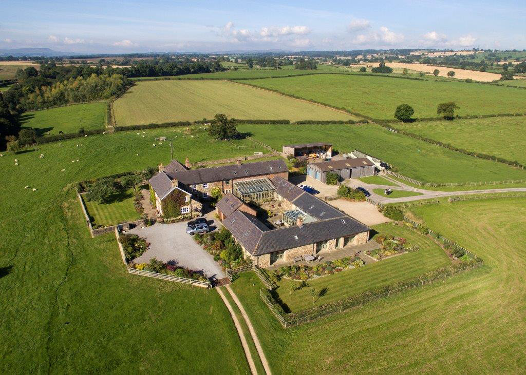 Arial View of Diamond Hill Farm